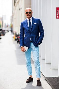 The Streets Of Milan - Men's Fashion Week Style - Day 3 Gents Fashion, Mens Fashion Blog, Older Mens Summer Fashion, Mature Fashion, Mens Style Guide, Men Style Tips, Milan Men's Fashion Week, Sharp Dressed Man, Gentleman Style