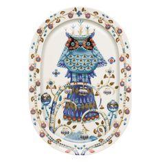 Taika Oval Plate XL, White $97. - RoyalDesign.com