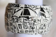 En Plein Air Broken Teacup Mosaic Bangle Bracelet. $129.00, via Etsy.