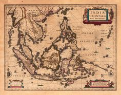 Old Map of Indonesia