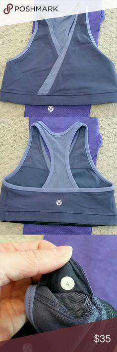 Lululemon sports bra. Size 4 Lululemon sports bra. Size 4. Mesh back for ventilation. No pads included lululemon athletica Intimates & Sleepwear Bras