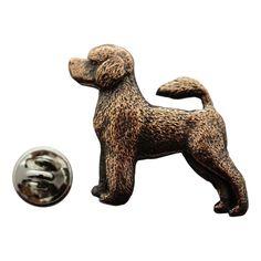 Portuguese Water Dog Pin ~ Antiqued Copper ~ Lapel Pin