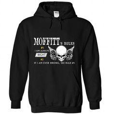 MOFFITT RULES - #athletic sweatshirt #sweater shirt. WANT IT => https://www.sunfrog.com/Names/MOFFITT-RULES-4232-Black-Hoodie.html?68278