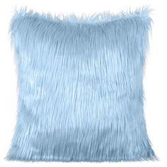 Chlpaté obliečky na vankúše svetlomodrej farby Throw Pillows, Bed, Home, Toss Pillows, Cushions, House, Ad Home, Homes, Decor Pillows