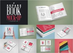square-book-mock-up-set Square Book Mock-Up / Hardcover Edition | by http://www.pune-design.com/ 8 PSD Presentations / 13 Different Book Mockups High Quality Mockups / Creatively Crafted Compositions CS4 or Higher / Fully Layered High Resolution / 4000x3000px / 300dpi Changeable Backgrounds via smart object / Additional Backgrounds Included Changeable reflections and shadows Works with any color Flattened Book Design Included Help File w/Instructions