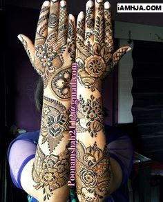 📌 hajra:::: hand henna design,, my henna design collection 👍 Arabic Bridal Mehndi Designs, Arabian Mehndi Design, Khafif Mehndi Design, Rose Mehndi Designs, Indian Mehndi Designs, Mehndi Design Pictures, Modern Mehndi Designs, Henna Art Designs, Beautiful Henna Designs