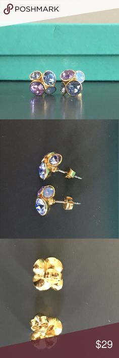 Ted Baker Crystal Stud Earrings Ted Baker multicolored crystal earrings with gold tone backing Ted Baker Jewelry Earrings