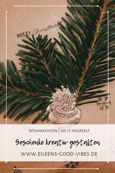 Geschenke, ganz gleich, ob Weihnachten oder Geburtstag kreativ zu verpacken ist überhaupt nicht schwer. In meinem neuen Blogpost erzähle ich dir wie ich meine Geschenke verpacke und wo ich mir die Inspiration dafür hole. Christmas Ornaments, Holiday Decor, Inspiration, Wrapping Gifts, Packaging, Birthday, Christmas, Biblical Inspiration, Christmas Jewelry