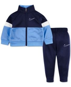 Nike Baby Boys Colorblocked Zip-Up Jacket & Jogger Pants Set – Ult-vio Baby Boy Outfits, Kids Outfits, Luxury Baby Clothes, Tricot Fabric, Toddler Boys, Baby Boys, Sporty Look, Jogger Pants, Kids Wear
