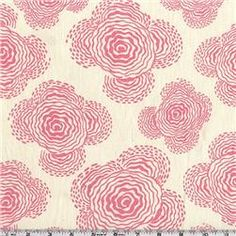 Amy Butler fabric ... this inspires me.  Possible craft project for one of the girls' rooms?