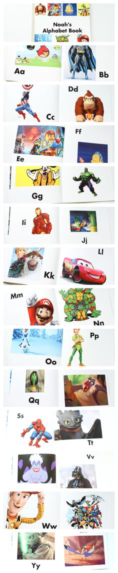 An alphabet book for kids who love cartoon characters!