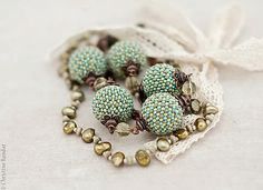Mint Green Boho Chic Necklace with Lace Ribbon | Flickr - Photo Sharing! Extruding Idea