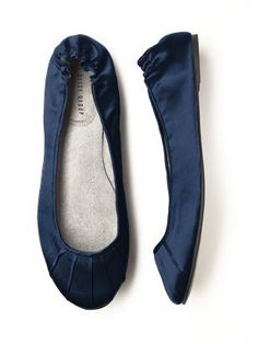 Wedding Ballet Flats (shown in midnight) an option to wear with a long gown, so the bridesmaids are comfortable