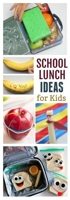 30 FUN LUNCH IDEAS THAT YOUR KIDS WILL LOVE!  Great ideas!  Pin!
