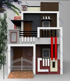 indian home design for 2000 sq ft using entrance door gaskets and paint house newborn for modern house designs pictures south africa House Front Wall Design, Bungalow House Design, Modern House Design, Dream House Plans, Modern House Plans, Small House Plans, 20x40 House Plans, Indian House Plans, House Design Pictures