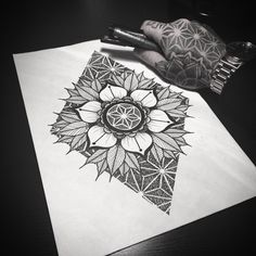 Best Geometric Tattoos And Symbolism Trendy Tattoos, Sexy Tattoos, Small Tattoos, Sleeve Tattoos, Cool Tattoos, Flower Tattoos, Tattos, Tatoo Art, Tattoo Drawings