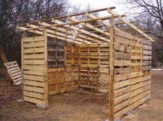 Muebles de palets: Como hacer una cabaña o almacén con palets de madera paso a paso