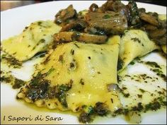 ravioli ricotta spinaci e funghi misti