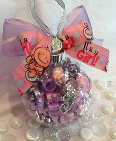 Personalized It's A Girl Ornament by SpecialOrnaments on Etsy