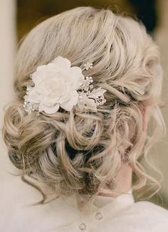 Tousled Low Dos Wedding Hair & Beauty Photos on WeddingWire Love this.  But I don't think my hair will cooperate.