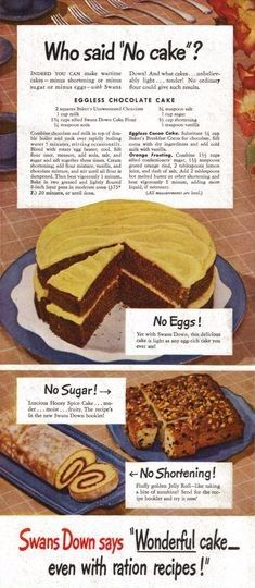 Cake Even With Rationing