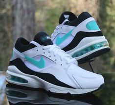 new concept 787af bd09e Nike Air Max 93 White Dusty Cactus-Black 306551-103 Running Shoes Men s Size  10