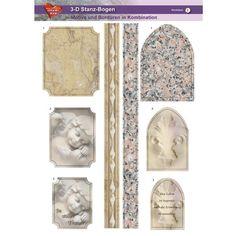 3-D Stanz-Bogen, Kondolenz, Din A4, Motiv 2