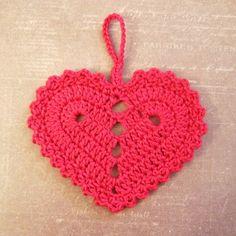 Crochet Heart - Tutorial (Use Google Translator) ❥ 4U // hf