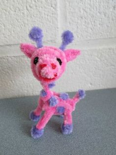 DeviantArt: More Like Pipe Cleaner Pink Giraffe by DarkSaberCat