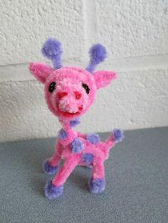 DeviantArt: More Like Pipe Cleaner Pink Giraffe by DarkSaberCat