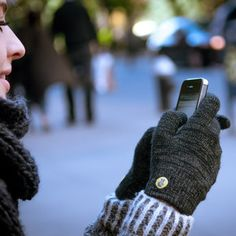 glove.ly Classic....now you can use your touchscreen phone while wearing gloves :-) I need some of these!!