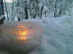 lodowy lampion w Swystowym Sadzie