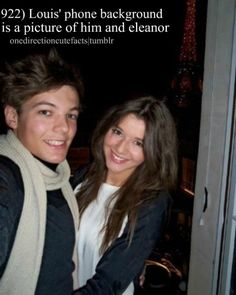 D'awwh how precious <3 Louis Tomlinson and Eleanor Calder <3