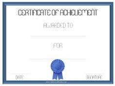 Customizable Printable Certificates | First Place Award Printable ...