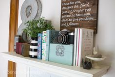 Styling a shelf or even a bookcase can be pretty intimidating if you haven't done it, but it's not hard to do once you get the hang of it. Pile Of Books, Stack Of Books, Bookcase Styling, Living Room Shelves, Triangle Pattern, Vintage Books, Serendipity, Accent Colors, Three Dimensional