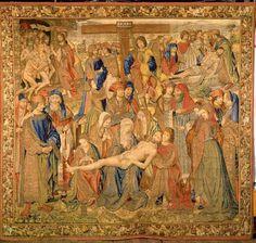Lamentation of Christ, c.1501. KIK-IRPA, Brussels (Belgium), CC-BY-NC-SA Medieval Tapestry, Brussels Belgium, Renaissance Art, Christian Art, Famous Artists, Tapestries, Textile Art, Fresco, Les Oeuvres