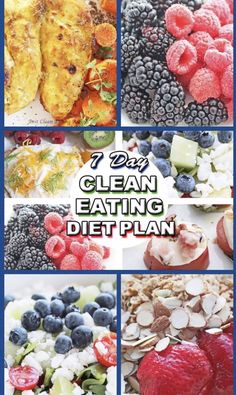 NEED CLEAN EATING IDEAS? Enjoy our clean eating diet plan with easy healthy clean eating meal and snack ideas and links to awesome recipes! Healthy Diet Recipes, High Protein Recipes, Healthy Eating, Healthy Food, Clean Eating Diet Plan, Clean Eating Recipes, Workout Diet Plan, Weight Loss Meal Plan, Easy Healthy Breakfast
