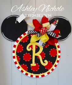 Mouse Inspired Door Hanger Door Decoration by DesignsAshleyNichole