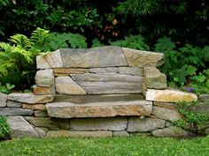 Love this stone bench!