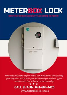 how secure is your home from break-ins? install meterbox lock viewing  window to