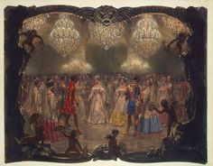 Empress Alexandra Fyodorovna at a Ball in the New Palace. St Petersburg in 1829 -   from the Album ''The Magic of the White Rose''   Adolph von Menzel  Germany 1854