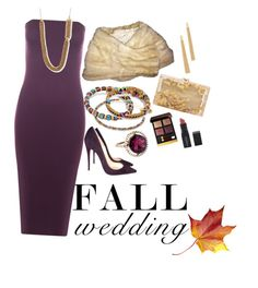 """""""Fall Wedding Guest"""" by alexandani ❤ liked on Polyvore featuring Alex and Ani, WearAll, Smashbox, Tom Ford, Charlotte Olympia, Christian Louboutin, Rosantica, Accessorize, WeddingGuest and jewelry"""