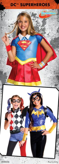 Your Halloween costume will be the talk of the class when you dress as your favorite character from DC Super Hero High! Own the night as Bat Girl, save the world as Super Girl or play the wild card as Harley Quinn!