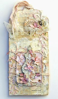 From Joyce Kers in ?? Scraps of Elegance: Shabby Chic Tag for Blue Fern Studios Design Team