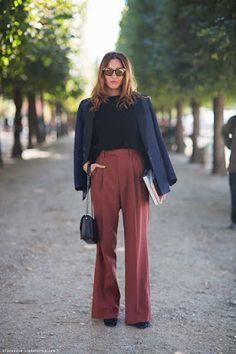 48 Ideas De Pantalon Ancho Mujer Pantalon Ancho Mujer Pantalones Anchos Ropa