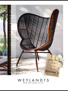 Cultured Home Accessories --- Weylandts, South Africa South African Decor, South African Design, Rattan Furniture, Furniture Decor, Furniture Design, African Interior, Weylandts, Woven Chair, Piece A Vivre