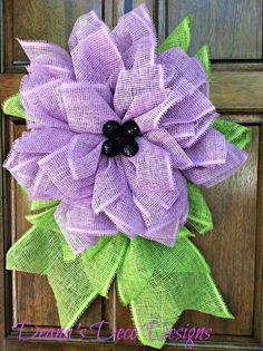 Paper Mesh Flower Petal Wreath by DeanasDecoDesigns on Etsy, $55.00