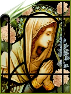 EASTER Catholic Pictures, Queen Of Heaven, Divine Mother, Christmas Mason Jars, Blessed Virgin Mary, Our Lady, Tattoo Inspiration, Stained Glass, Tattoo Ideas
