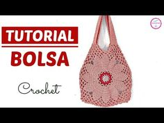 Crochet Ideas Easy This is Crochet Bag Simple And Very Easy and it's one of the most beautiful bag I have ever seen before. This is great to use while shopping for groceries. Crochet Flower Patterns, Afghan Crochet Patterns, Crochet Patterns For Beginners, Crochet Stitches, Crochet Flowers, Crochet Handbags, Crochet Purses, Knitting Videos, Crochet Videos
