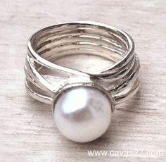 Zilveren Ring met Parel ERP1114